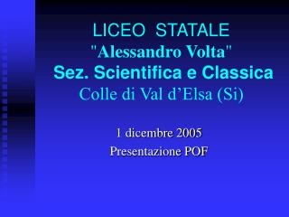 LICEO  STATALE