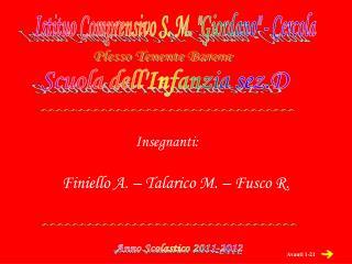 """Istituo Comprensivo S. M. """"Giordano"""" - Cercola"""