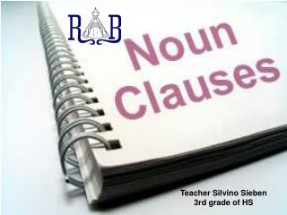 Teacher Silvino Sieben 3rd grade of HS