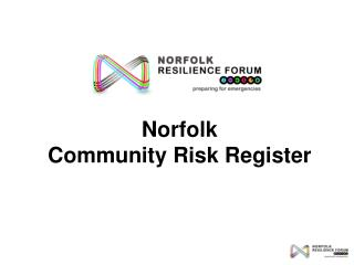 Norfolk  Community Risk Register