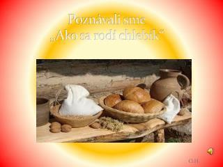 Pozn�vali sme �Ako sa rod� chleb�k�
