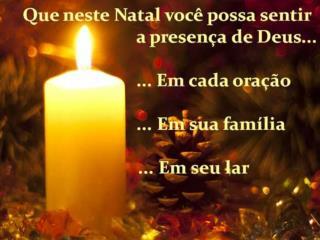 Deseje um  Santo Natal  a todos os seus amigos e familiares