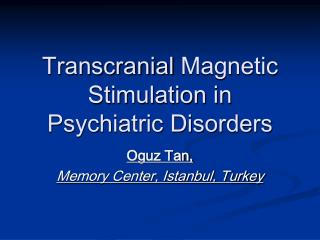 Transcranial  Magnetic Stimulation in Psychiatric Disorders