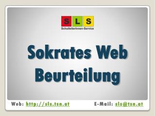 Sokrates Web Beurteilung
