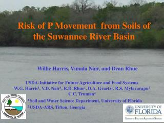 Risk of P Movement  from Soils of the Suwannee River Basin