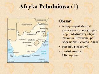 Afryka Południowa  (1)