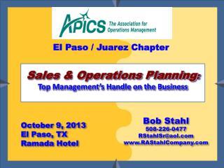 October 9, 2013 El Paso, TX Ramada Hotel