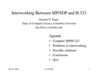 Interworking Between SIP