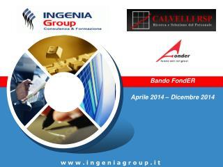 Bando FondER Aprile 2014 – Dicembre 2014