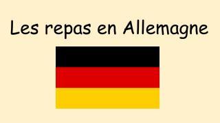 Les repas en Allemagne