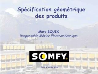 Marc BOUIX Responsable M tier  lectrom canique