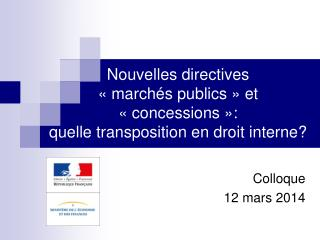 Colloque 12 mars 2014
