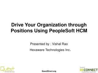 Drive Your Organization through Positions Using PeopleSoft HCM