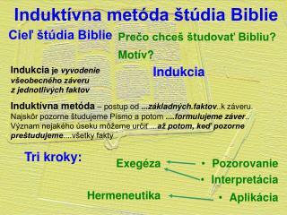 Induktívna metóda štúdia Biblie