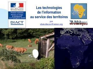 Les technologies  de l'information  au service des territoires