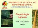 Fitopatologia  Agr cola