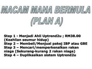 Step 1 - Menjadi Ahli Uptrend2u ; RM38.00 (Keahlian seumur hidup)