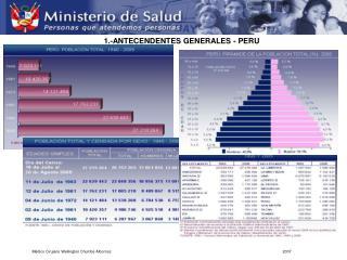 1.-ANTECENDENTES GENERALES - PERU