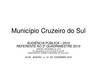 Município Cruzeiro do Sul