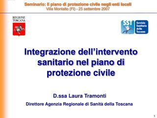 Integrazione dell'intervento sanitario nel piano di protezione civile