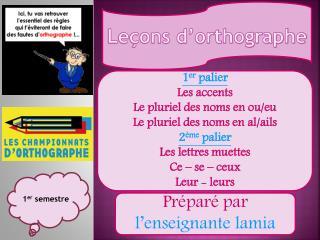 Leçons d'orthographe