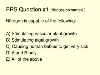 PRS Question #1  (discussion starter) :