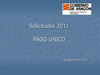 Solicitudes 2011  PAGO ÚNICO