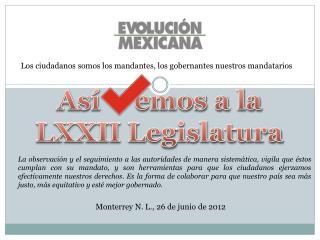 Así     emos a la LXXII Legislatura