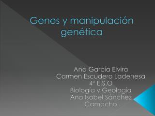 Genes y manipulación genética