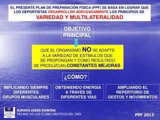 EL PRESENTE PLAN DE PREPARACIÓN FÍSICA (PPF) SE BASA EN LOGRAR QUE