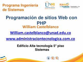 Programa Ingeniería de Sistemas
