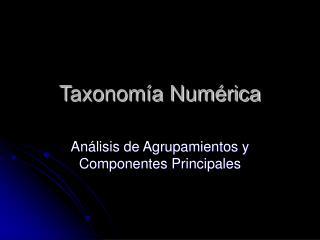 Taxonomía Numérica