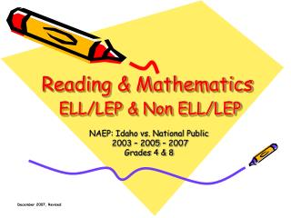 Reading & Mathematics ELL/LEP & Non ELL/LEP