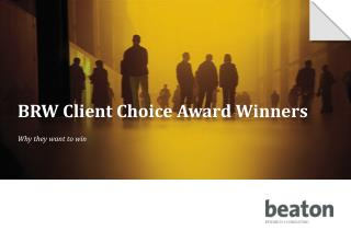 BRW Client Choice Award Winners
