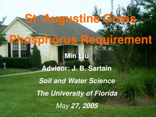 St. Augustine Grass Phosphorus Requirement
