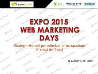 EXPO 2015  WEB MARKETING DAYS