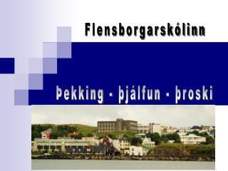 Þekking - þjálfun - þroski