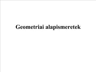 Geometriai alapismeretek