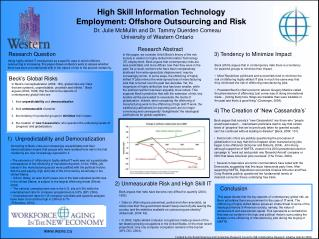 High Skill Information Technology Employment: Offshore Outsourcing and Risk