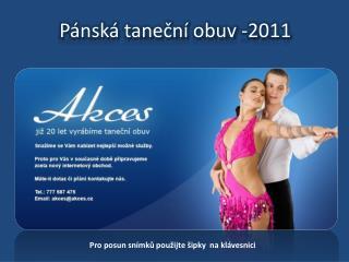 Pánská taneční obuv -2011