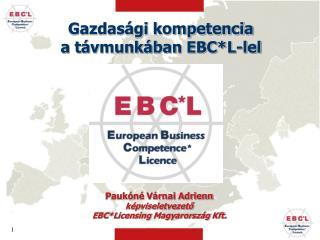 Gazdasági kompetencia a távmunkában EBC*L-lel