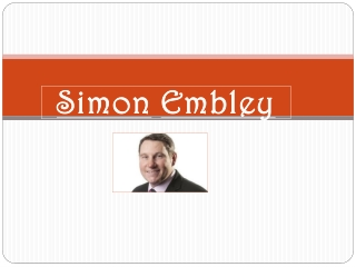 Simon Embley - Leader in the Real Estate Industry