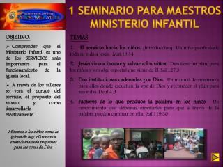 1 SEMINARIO PARA MAESTROS MINISTERIO INFANTIL