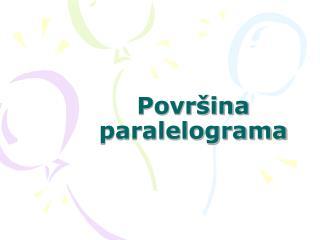 Povr ina paralelograma