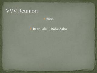 VVV Reunion