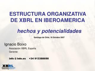 Ignacio Boixo Asociación XBRL España Gerente info @ bde.es    +34 913388690