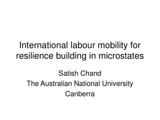 International labour mobility for resilience building in microstates