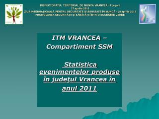ITM V RANCEA  –  Compartiment SSM