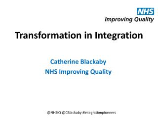 Transformation in Integration