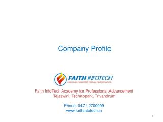 Faith InfoTech Academy for Professional Advancement Tejaswini, Technopark, Trivandrum